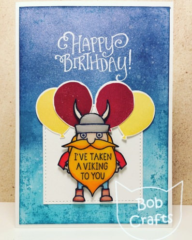 Viking Birthday Card using Avery Elle by Bobcrafts
