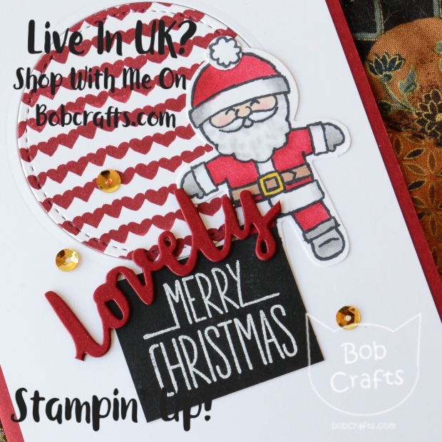 Cookie-cutter christmas stampin up card